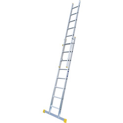 Lyte Ladders Lyte Trade Extension Ladder 2 section, Closed length 2.42m - 50018 - from Toolstation