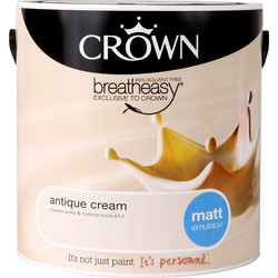 Crown Crown Breatheasy Matt Emulsion 2.5L Antique Cream - 50137 - from Toolstation