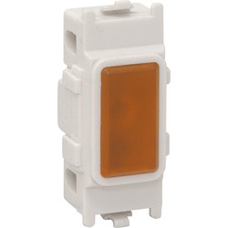 White Grid Neon Indicator Lamp Orange - 50150 - from Toolstation
