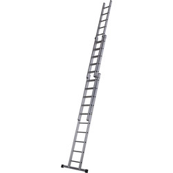 Youngman Trade Extension Ladder 3 Section, Closed Length 3.08m