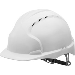 JSP EVO2 Adjustable Safety Helmet White