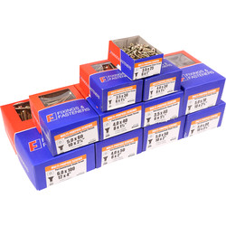 Single Thread Pozi Screw Trade Pack  - 50259 - from Toolstation