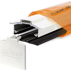 Alukap Alukap-XR Concealed Fix Hip Bar with Gasket White 4800mm - 50379 - from Toolstation