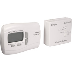 Drayton Drayton Digistat Programmable Room Thermostat RF701 Wirless +3RF (5-2) - 50411 - from Toolstation
