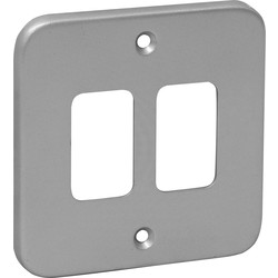Grid Front Plate Metal 2 Gang - 50475 - from Toolstation