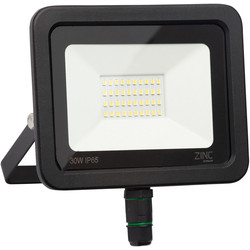 Zinc Zinc Slimline LED Floodlight IP65 30W 2400lm - 50534 - from Toolstation