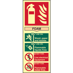 Photoluminescent Fire Extinguisher Sign Foam - 50549 - from Toolstation