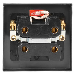Click Deco Satin Chrome 45A DP Switch