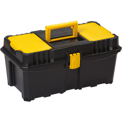 "Olympia Toolbox with Lid Organiser and Tote Tray 405mm (16"")"