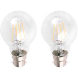 Meridian Lighting LED Filament GLS Lamp 6W BC (B22d) 780lm - 50588 - from Toolstation