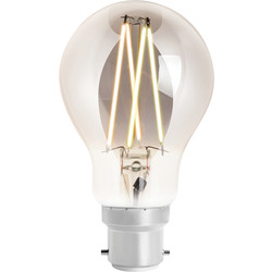 4lite WiZ 4lite WiZ LED A60 Smart Filament Wi-Fi Bulb 6.5W BC 400lm Smoky - 50597 - from Toolstation