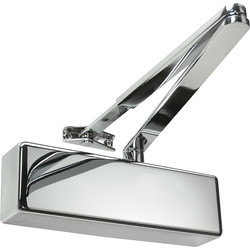 Rutland Rutland TS.3204 Door Closer Polished Nickel Size 2-4, With Cover - 50630 - from Toolstation