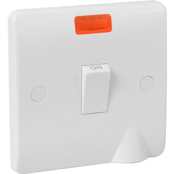 Scolmore Click Click Mode  20A DP Switch Neon Flex Outlet - 50655 - from Toolstation