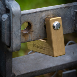 Master Lock Brass Rectangular Horizontal Padlock