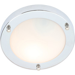 Spa Lighting Delphi IP44 Chrome Integrated LED Bathroom Light 12W 600lm 180mm - 50686 - from Toolstation