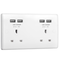 BG 13A Low Profile SP USB Unswitched Socket