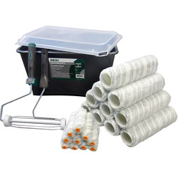 "Rota Professional Rota Professional 23 Piece Silver Stripe Trade Scuttle & Roller Set 9"" - 50772 - from Toolstation"