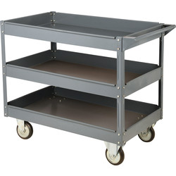 Barton Steel Workshop Trolley 3 Tray - 50798 - from Toolstation