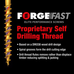 ForgeFast Multi Purpose Self Drilling Wood Screw