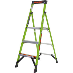Little Giant Little Giant Mighty Lite Fibreglass Step Ladder 3 Tread SWH 2.45m - 50927 - from Toolstation
