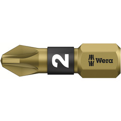 Wera Wera Gold Bi-Torsion Screwdriver Bit PZD 2 x 25mm - 51025 - from Toolstation