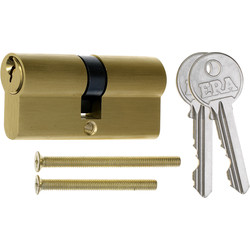 Era ERA 5 Pin Euro Double Cylinder 35-35mm Brass - 51048 - from Toolstation