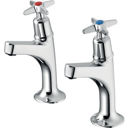Armitage Shanks Armitage Shanks Sandringham 21 High Neck Sink Pillar Taps  - 51054 - from Toolstation