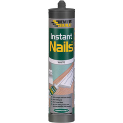 Everbuild Instant Nails Solvent Free Grab Adhesive 310ml White - 51064 - from Toolstation