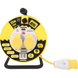 Masterplug Masterplug 2 Socket 16A Open Cable Reel 25m 110V - 51103 - from Toolstation
