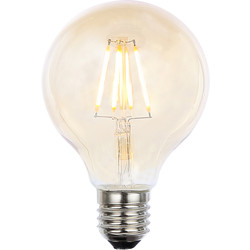 Inlight Vintage LED Filament G80 Globe Bulb Lamp 4W ES 300lm Tint - 51247 - from Toolstation