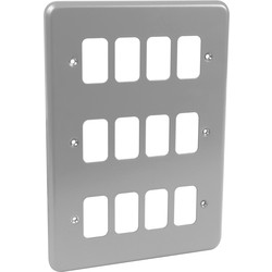 MK MK Grid Plus Metal Front Plate 12 Gang - 51274 - from Toolstation