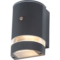Zinc Helios Up or Down Black Dusk to Dawn Photocell Wall Light IP44 GU10 1 x 35W Max - 51290 - from Toolstation