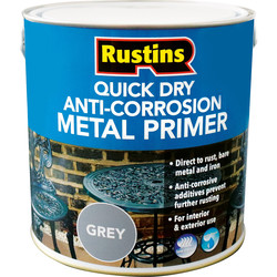 Rustins Quick Dry Anti Corrosion Metal Primer Grey 2.5L - 51358 - from Toolstation