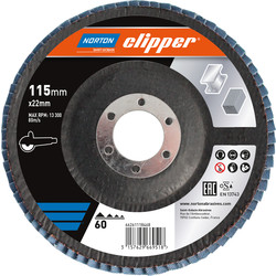 Norton Flap Disc 115mmx22mm 60 Grit - 51383 - from Toolstation
