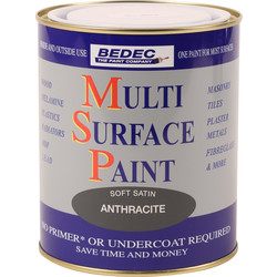 Bedec Bedec Multi Surface Paint Satin Anthracite 750ml - 51384 - from Toolstation