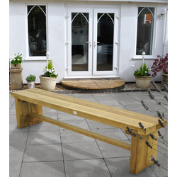 Forest Forest Garden Double Sleeper Bench 45cm (h) x 180cm (w) x 35cm (d) - 51449 - from Toolstation