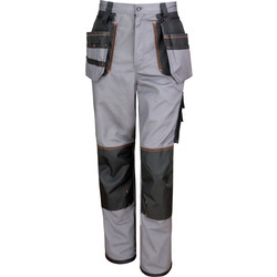 "Work-Guard Work-Guard Holster Trousers 36"" R Grey/Black - 51491 - from Toolstation"