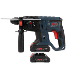 Bosch Bosch GBH 18-V20 18V SDS Plus Cordless 3kg Hammer Drill 2 x 4.0Ah Pro Core - 51572 - from Toolstation