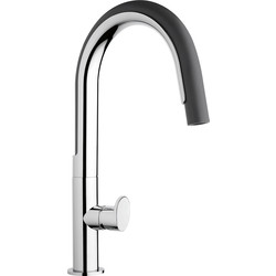 Franke Franke Valdo Pull Out Mono Mixer Kitchen Tap Graphite - 51591 - from Toolstation