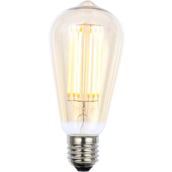Inlight Vintage LED Filament ST64 Bulb Lamp 6W ES 550lm Tint - 51622 - from Toolstation