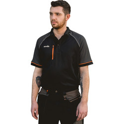 Scruffs Trade Active Polo Medium Black