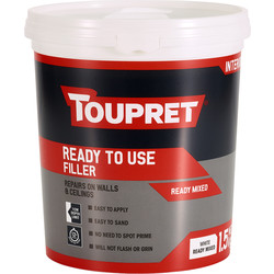 Toupret Toupret Ready Mixed Filler 1.5kg - 51702 - from Toolstation