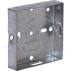 Metal Box 1 Gang 16mm - 51704 - from Toolstation