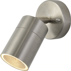 Zinc Stainless Steel Adjustable Up Or Down Wall Light IP44 GU10 1 x 35W Max - 51760 - from Toolstation
