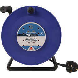 Masterplug Masterplug 4 Socket 13A Open Cable Reel 50m 240V - 51787 - from Toolstation
