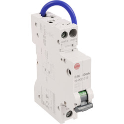 Wylex Wylex Mini RCBO 16A 30Ma Type A - 51824 - from Toolstation