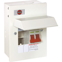 Wylex Wylex Metal 17th Edition Amendment 3 100A DP Consumer Unit 2 Way 63A - 51841 - from Toolstation