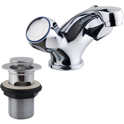 Ebb and Flo Contract Taps Basin Mixer - 51856 - from Toolstation