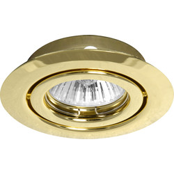 Low Voltage Adjustable Downlight Pressed Satin Chrome - 51968 - from Toolstation