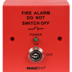 ESP ESP Fire Alarm Panel Isolator Switch Red  - 52002 - from Toolstation